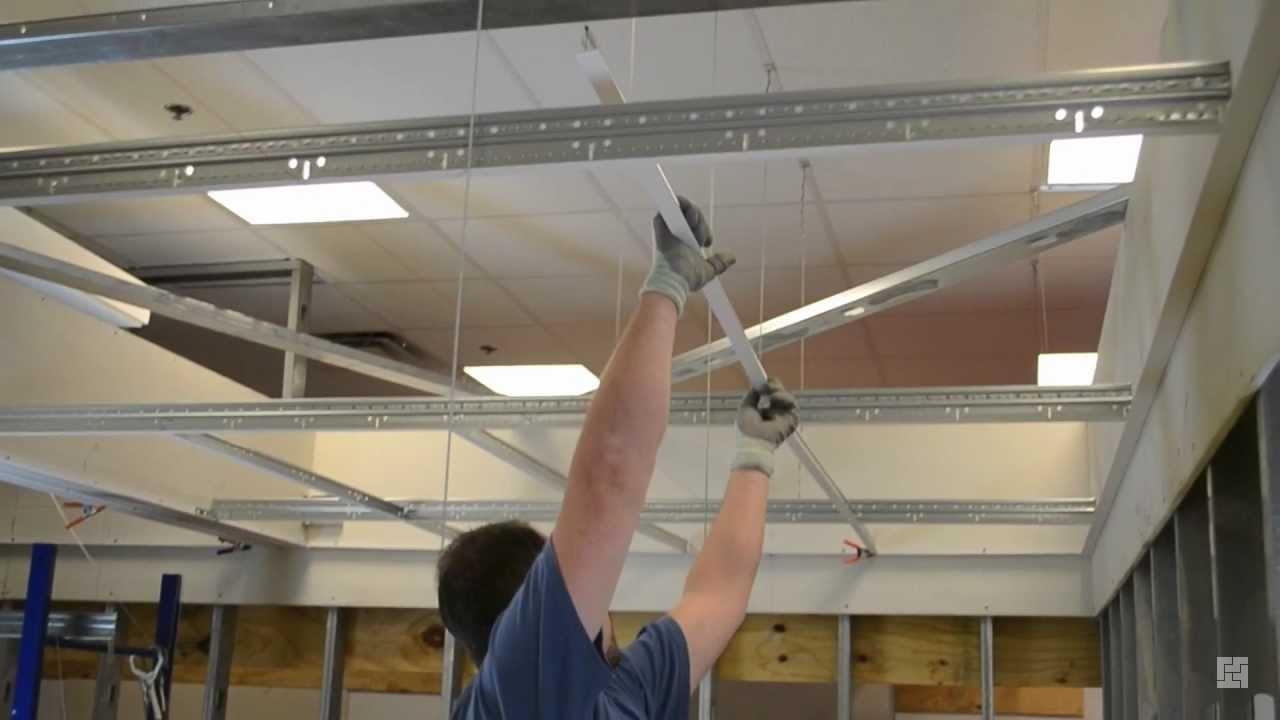 Монтаж подвесного потолка Армстронг своими руками.