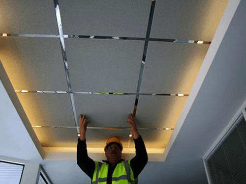 Конструкция и типы подвесного потолка.